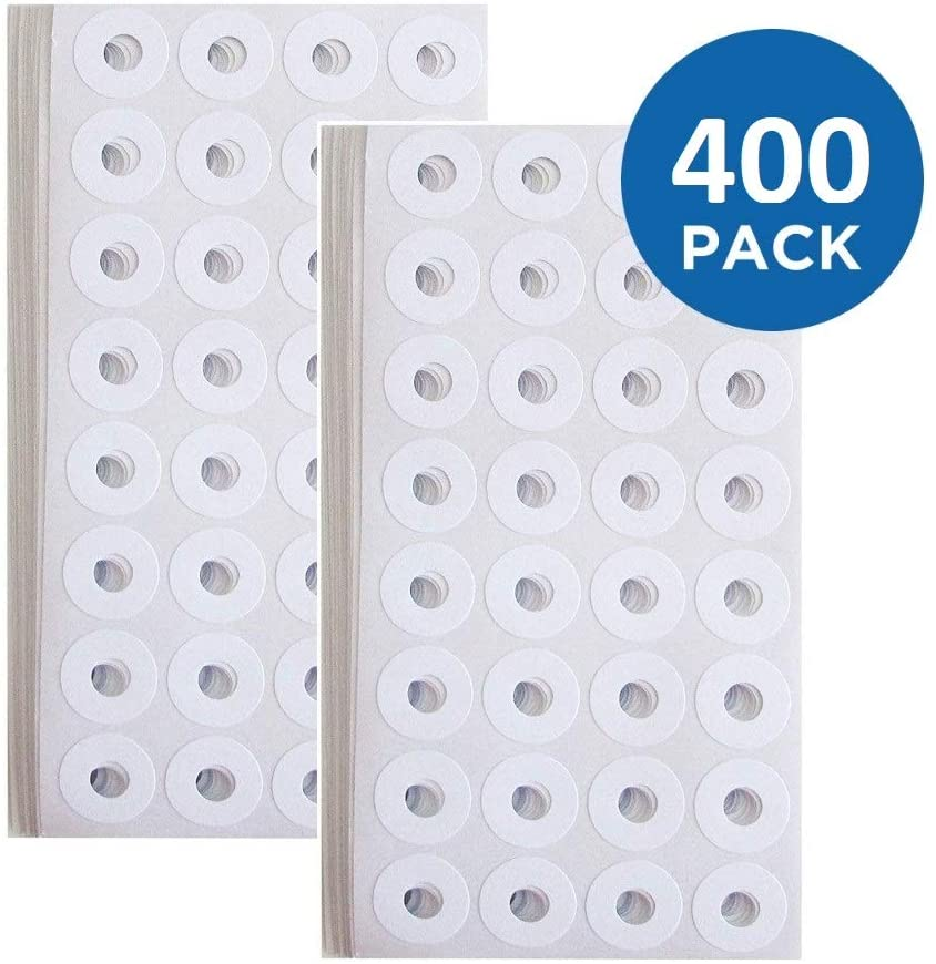 1InTheOffice Sheet Hole Reinforcements - Sheet Hole, 20 Labels Per Sheet, White, 1/4