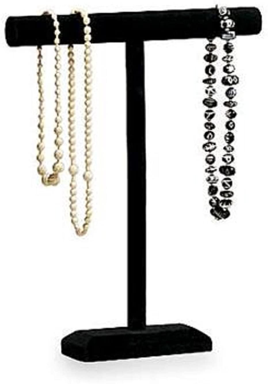 Black Velvet One Tier Necklace/Bracelet Display 14W x 18H