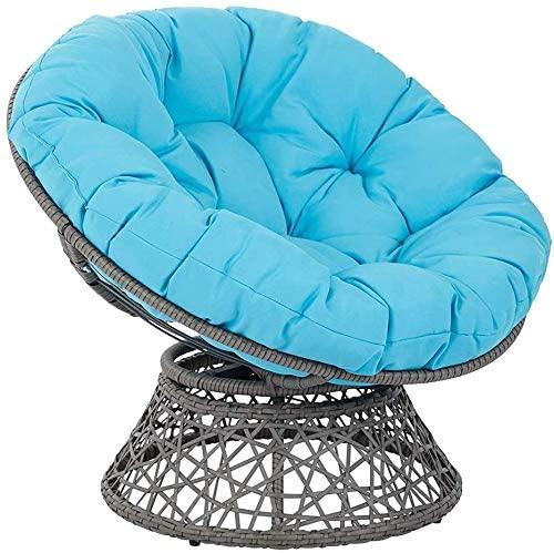 TOPYL Egg Nest Chair Cushion,Thicken Round Papasan Chair Cushion Swing Chair Mat Pillow for Rocking Chair Pad Hanging Hammock G Diameter110cm(43inch)