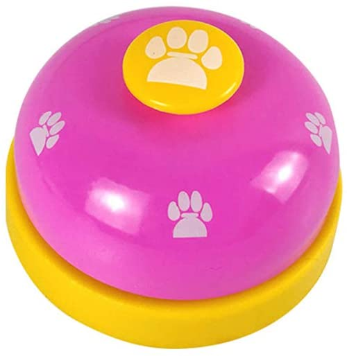 ZPFDM Pet Bell, Metal Bell, Dog Training with Non Skid Rubber Bottoms, Dog Door Bell, for Potty Training, Eat Meal Training Intellectual Toy