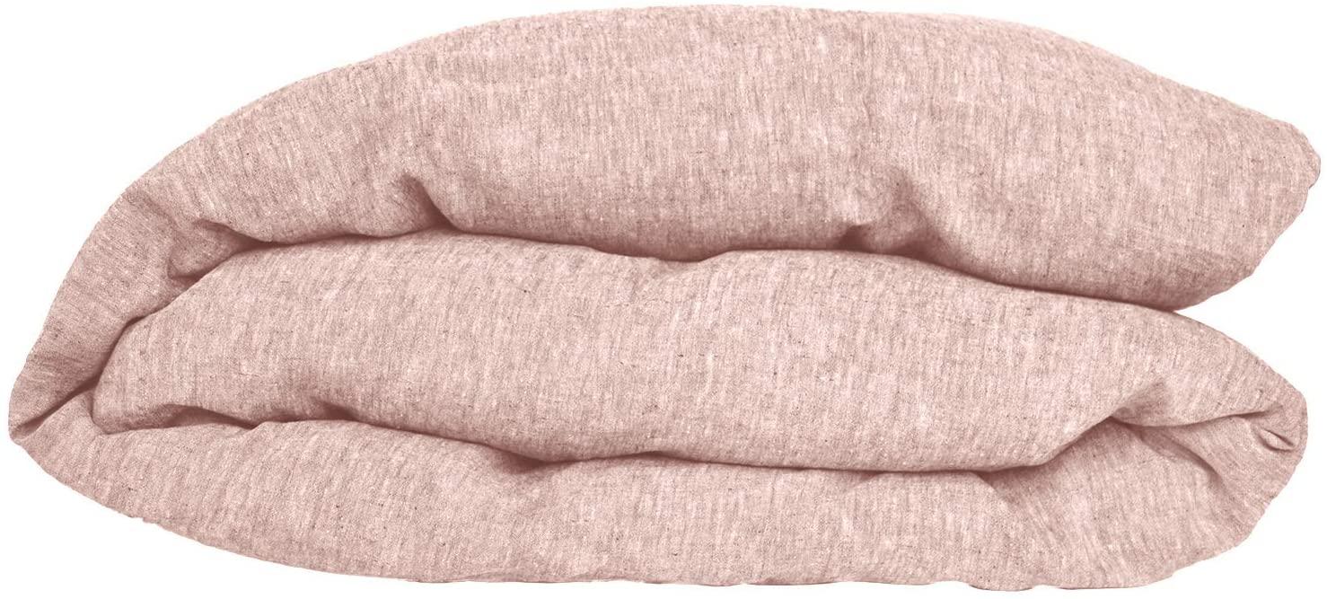 Coyuchi Organic Linen Chambray Duvet Cover (King, Blush)