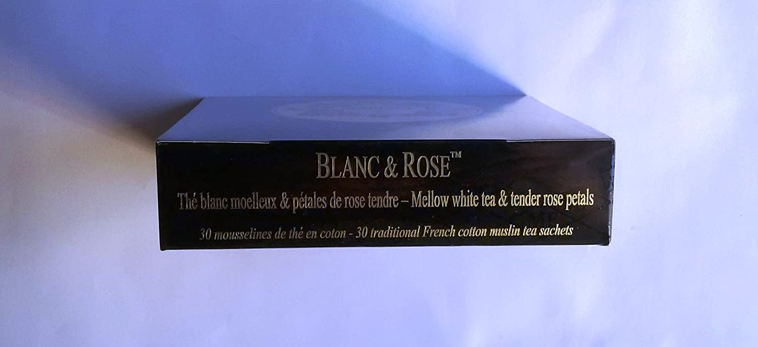 Mariage Frères - BLANC & ROSE - Box of 30 traditional french muslin tea sachets