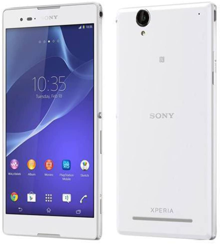 Sony Xperia T2 Ultra D5303 8GB White LTE Unlocked Smartphone - International Version No Warranty