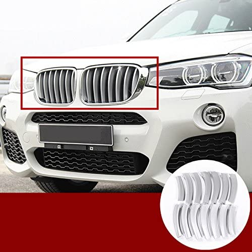 wroadavee ABS Front Grille Molding Cover Trim 14pcs for BMW X3 F25 2011-2017