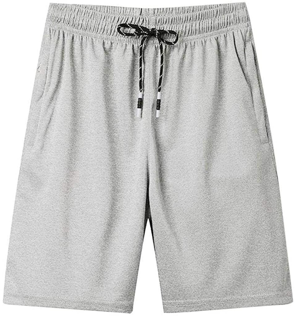 terbklf Men's Summer Casual Thin Fast-Drying Beach Trousers Casual Sports Short Pants