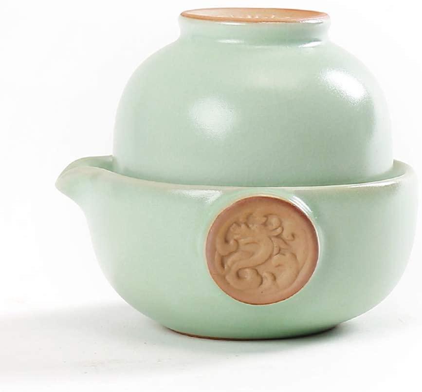 Chinese Ru Kiln Tea Set(1 Teapot&1 Teacup) (3)