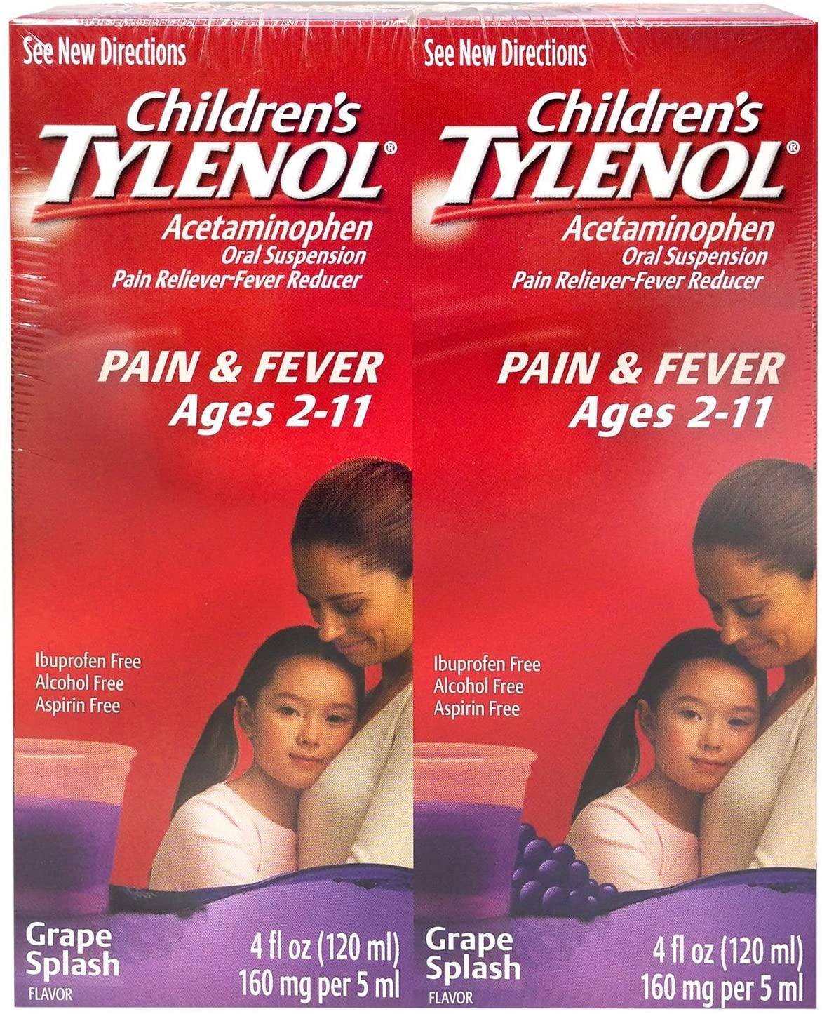 Children's Tylenol - 4 oz - 4 pk(Grape Splash Flavor)