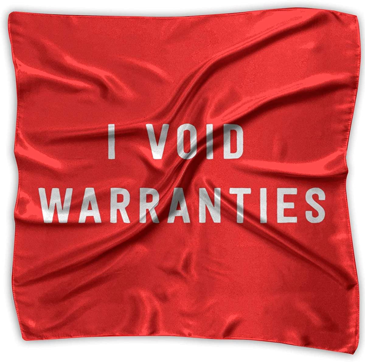 I Void Warranties Women's Handkerchief Square Silk Party Handkerchiefs