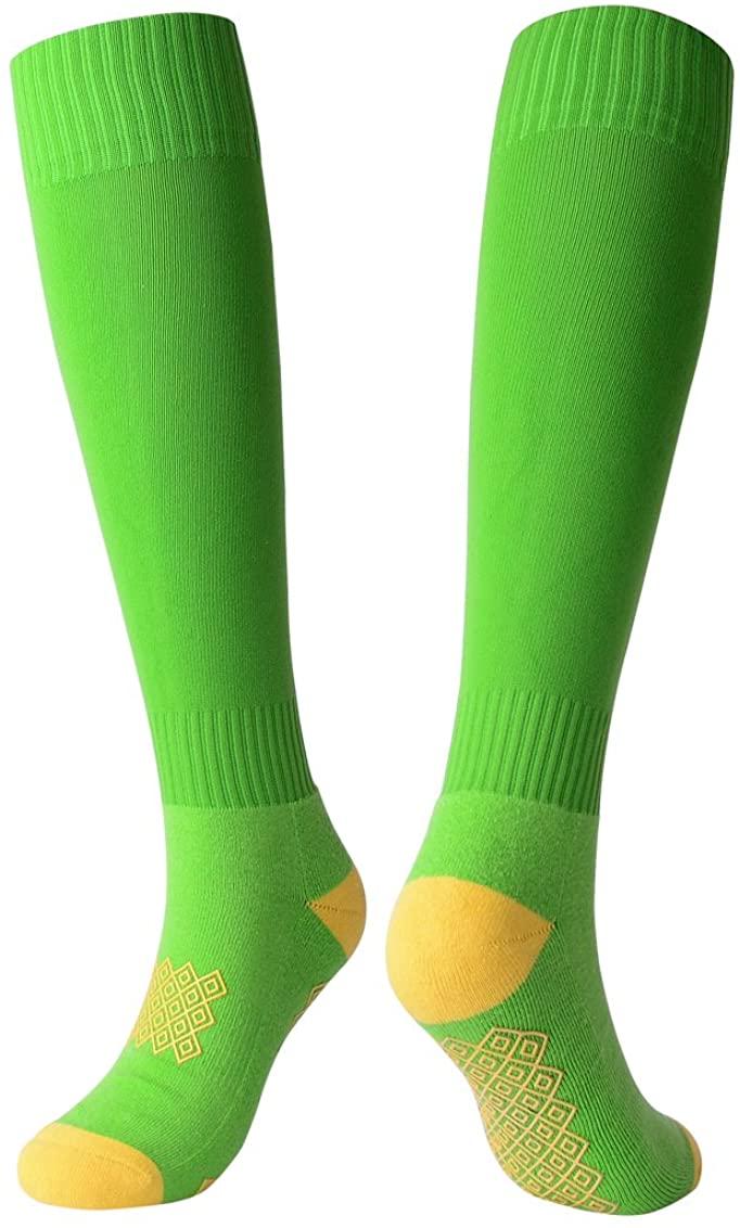 Rong-Bao Mens Gel Pad Knee High Football High Peformance Athletic Soccer Socks