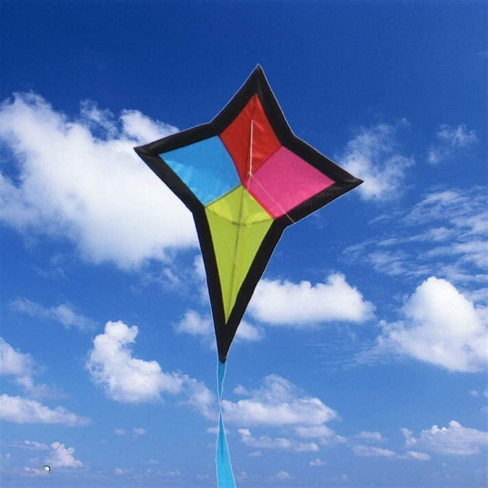JELO Premium Kite, Kids Kite Beautiful Kites for Kids Easy to Fly for Beach Outdoor 3D Diamond Perfect Childhood Mate (Color : Color)