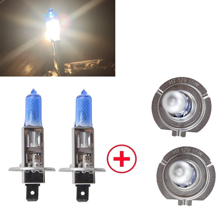White Halogen Light H7/H1 High Low Beam - NSLUMO 4pc/lot H7 Low Beam H1 High Beam Halogen Bulb 12v 55WSuper Vison Ultra Xenon Car Headlight Auto Lamp