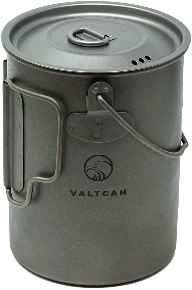 Valtcan 900ml Titanium Pot Backpacking Mug 34 oz