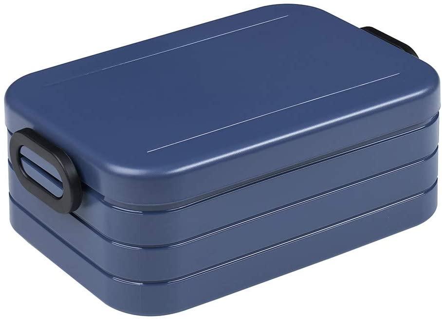 Mepal Take A Break Lunchbox Midi–Plastic, Nordic Denim 18.5x 12x 6.5cm, 1Units