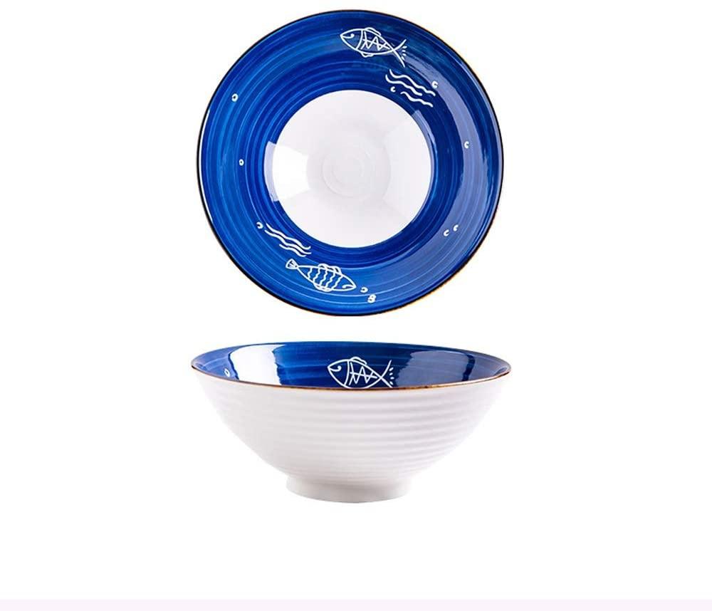 LRHD High Capacity Cereal Bowls, Durable Porcelain Bowls, Salad, Rice, Pasta, Ice Cream, Fruit, Soup Bowls, Ramen Bowl, Microwavable Ceramic Bowls, Heat and Cold Resistant Porcelain