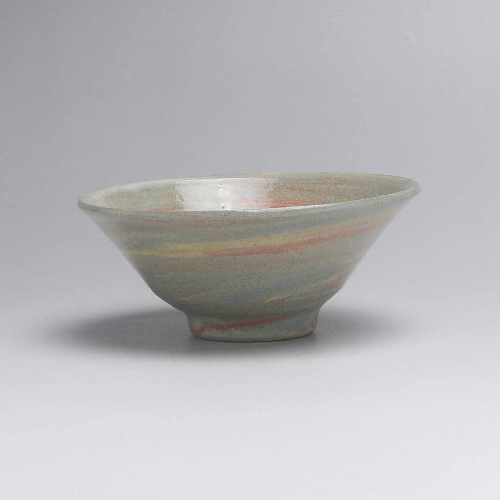 Sake sakazuki cup made by Komei Koto. Hagiware, Japanese Knead ceramic.