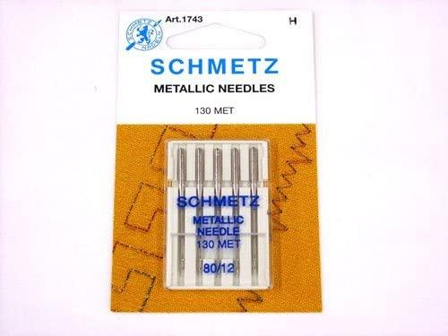 Schmetz Metallic Needles, size 80/12