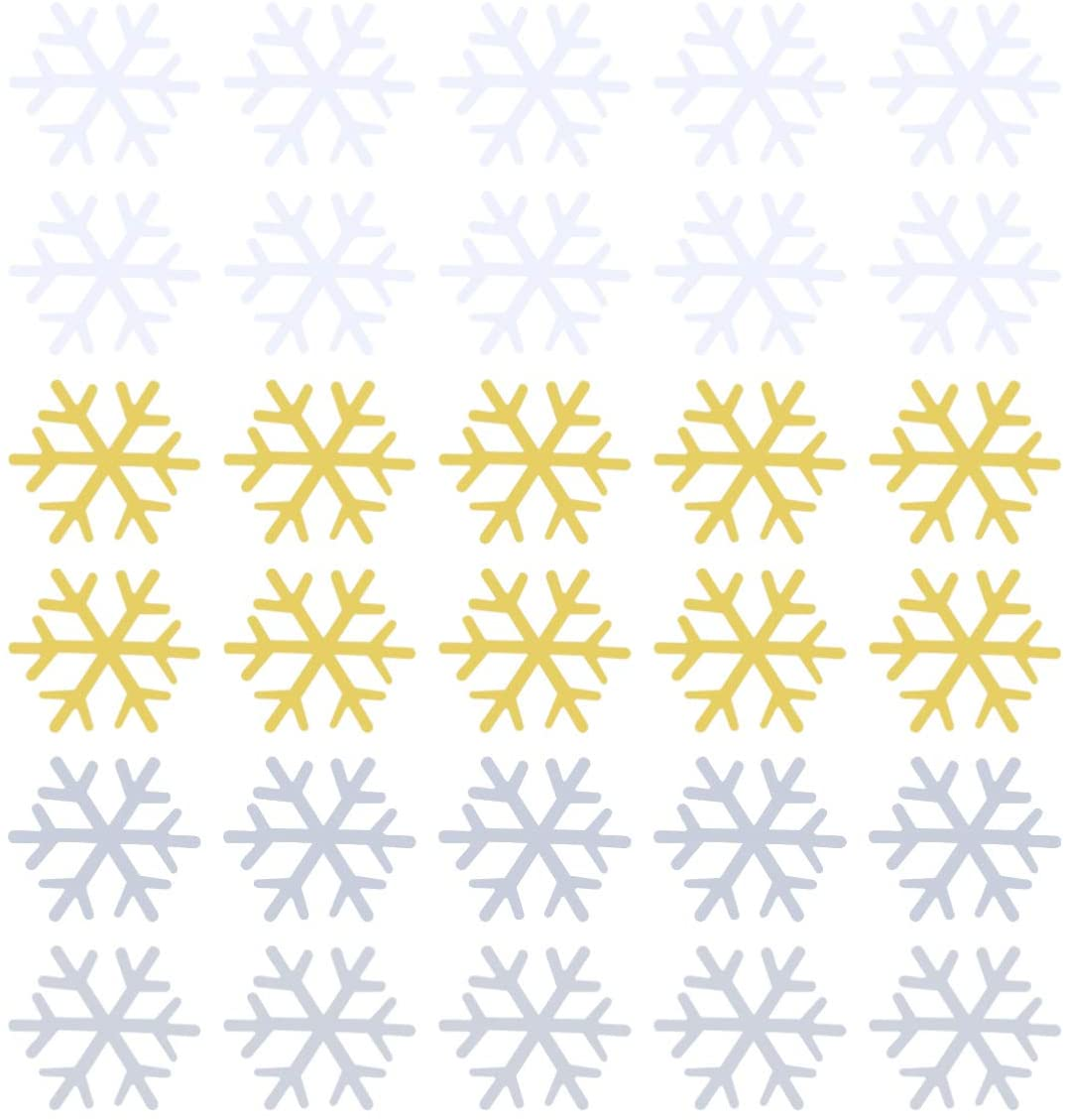 Holibanna 1800PCS Christmas Snowflake Confettis Sequins Holiday Confettis Table Scatters New Year Wedding Party Decoration -18mm