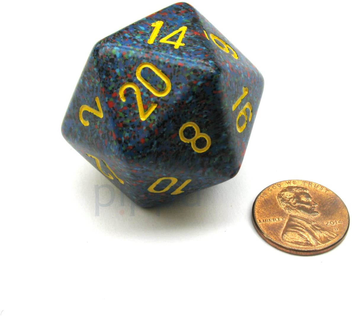 Jumbo d20 Counter - Speckled 34mm Dice: Twilight