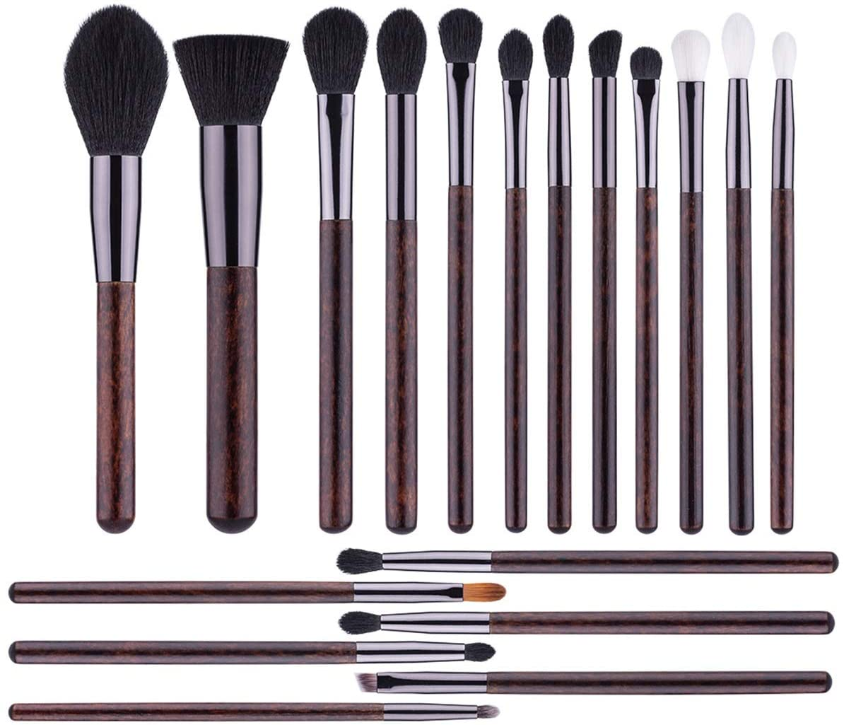 zZZ ZX 18 Pcs Imitation Pear Flower Wooden Handle Makeup Brush Blush Foundation Eye Shadow Brush Professional Beauty Tools Makeup Pen Set Beautiful