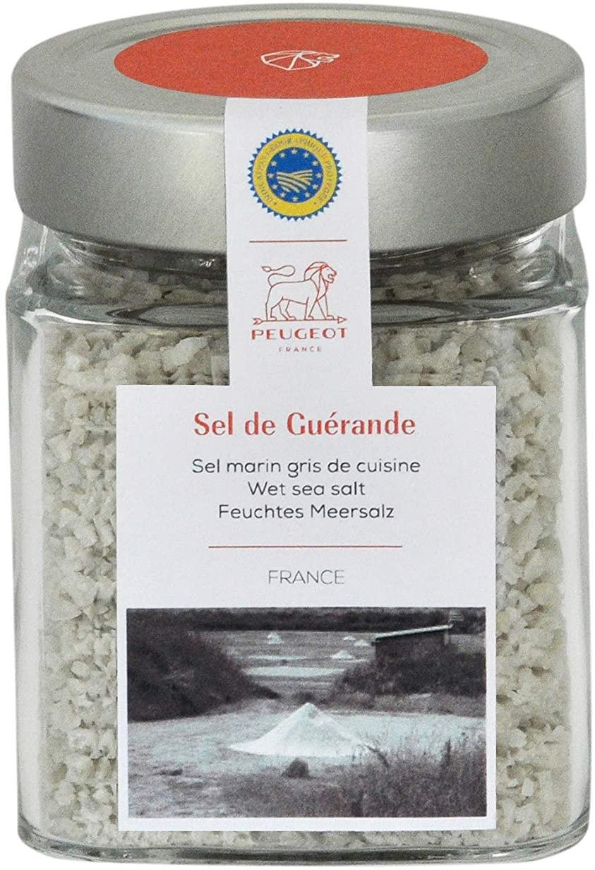 Peugeot France-240g Sel de Guerande Spice Cube-Grey Sea Salt France, 240g, Clear