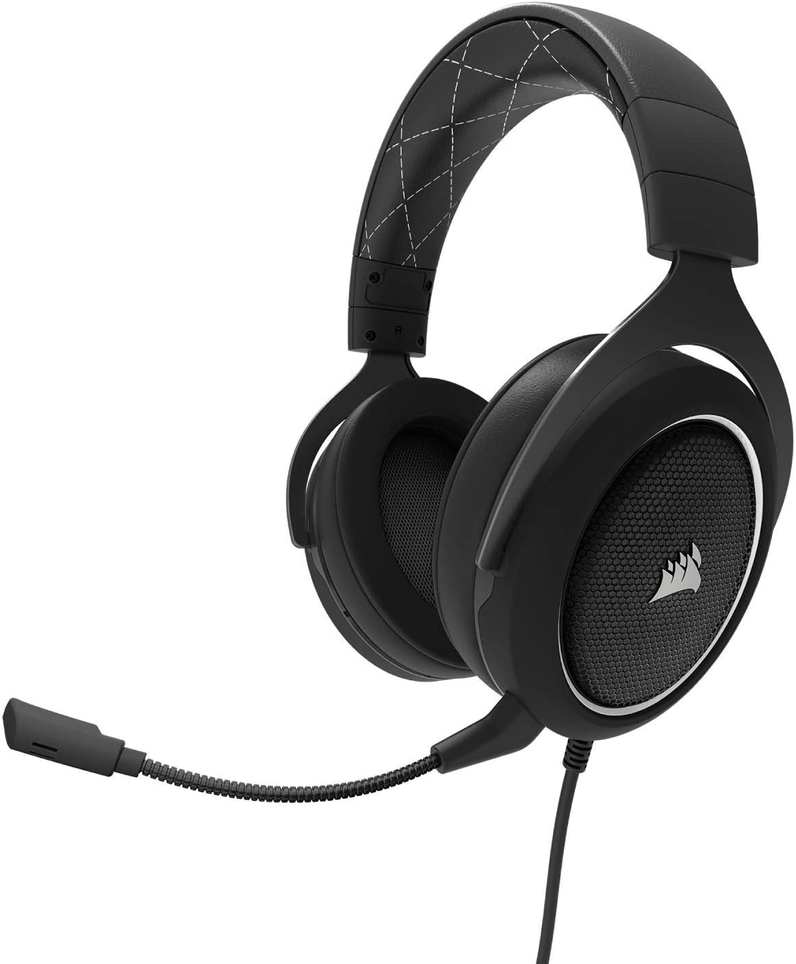 CORSAIR HS60 – 7.1 Virtual Surround Sound PC Gaming Headset w/USB DAC - Discord Certified Headphones – Compatible with Xbox One, PS4, and Nintendo Switch – White (Renewed)