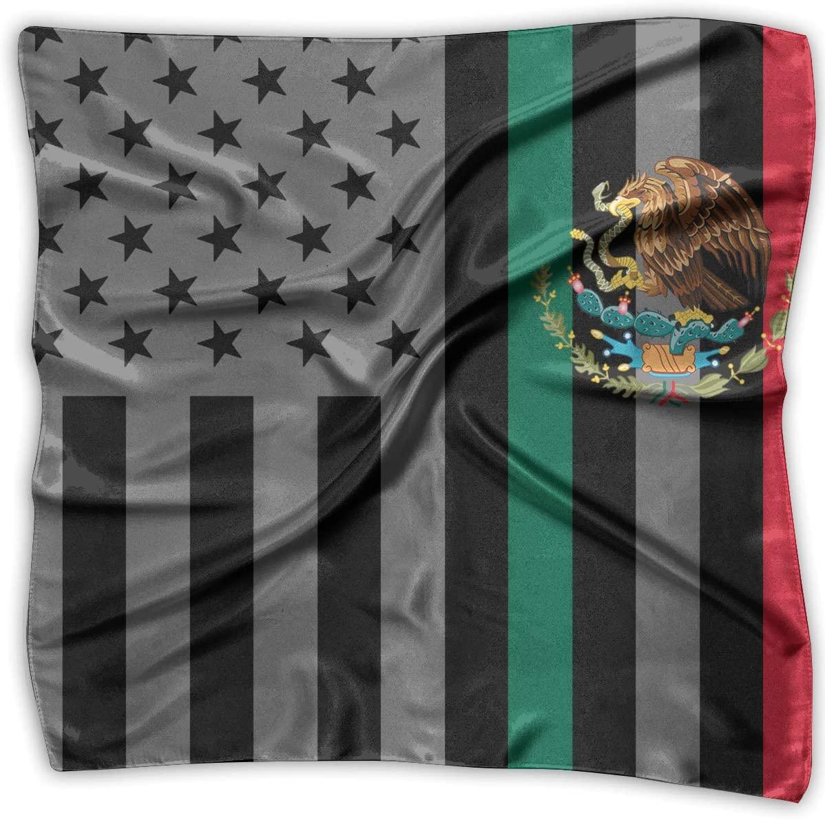 WFIRE American Mexico Flag Square Handkerchiefs Scarf Shawl Bandanas Headscarf Neckerchief Tie Hair Scarf