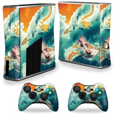 MightySkins Skin Compatible with X-Box 360 Xbox 360 S Console - Acid Surf | Protective, Durable, and Unique Vinyl Decal wrap Cover | Easy to Apply, Remove, and Change Styles | Made in The USA