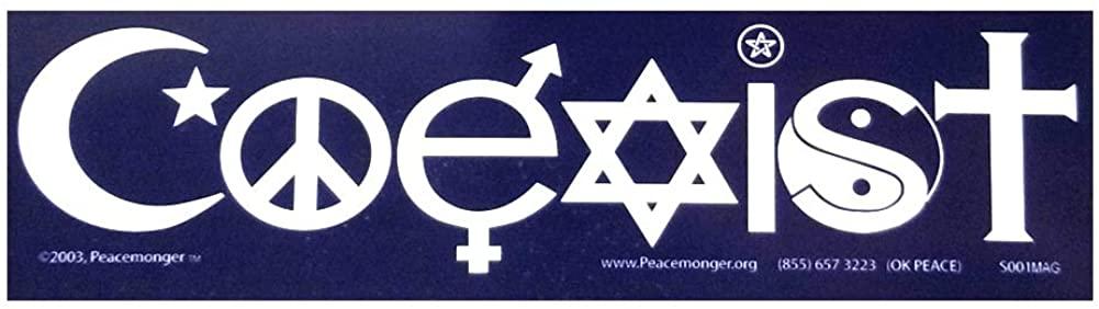 Coexist in Interfaith Symbols Peace Bumper Sticker Magnet