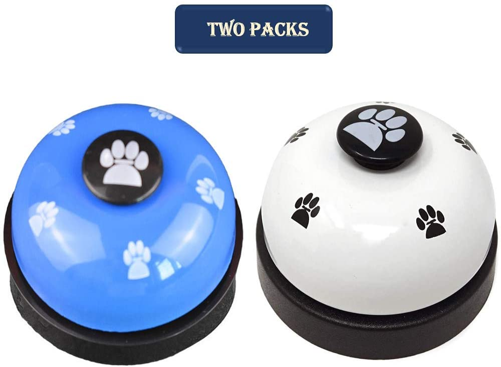 Orangelight Pet Training Bells,2 Pack Metal Bell Dog Training with Non Skid Rubber Bottoms,Potty Training and Communication Device Dog Interactive Toys