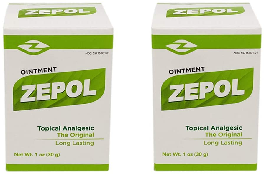 ZEPOL Analgesic Ointment Muscle Joint Pain Aches Backache Sprains Dolor (2-PACK)