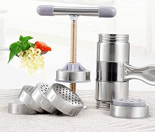 SHIJING Stainless Steel Handheld Manual Pasta Machine Press Pasta and Pasta Kitchen Machine Tool Easy to Operate