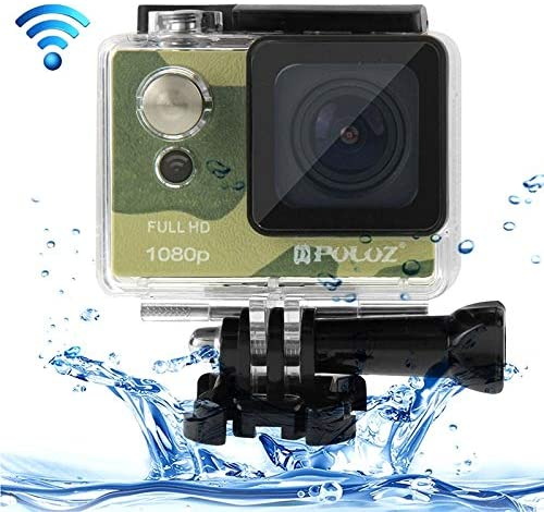 Sports Camera U6000 Full HD 1080P 2.0 inch LCD Screen WiFi Waterproof Video Camera Multi-Function Sport Action Camcorder, Novatek NT96650 Chipset, 175-degree Wide-Angle Lens(Black) (Color : Color1)