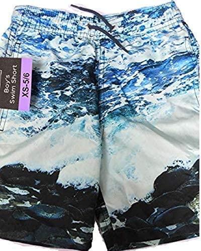 Kirkland Signature Boy's Swim Short, Ocean Rocks, Size XSmall