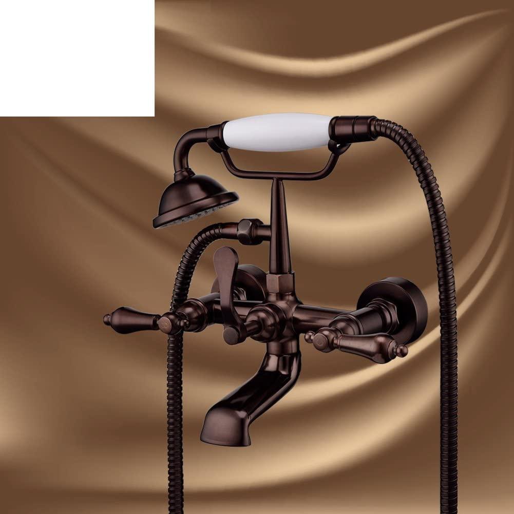 European Antique Chaise Longue Bathtub Faucet/Shower Faucet Set/Wall Mounted Copper taps