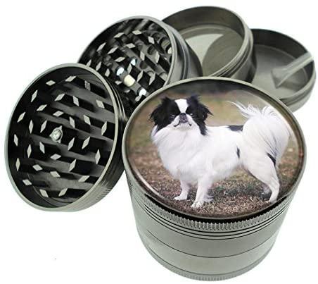 Dog japanese chin Titanium 4 PC Magnetic Grinder 2.1
