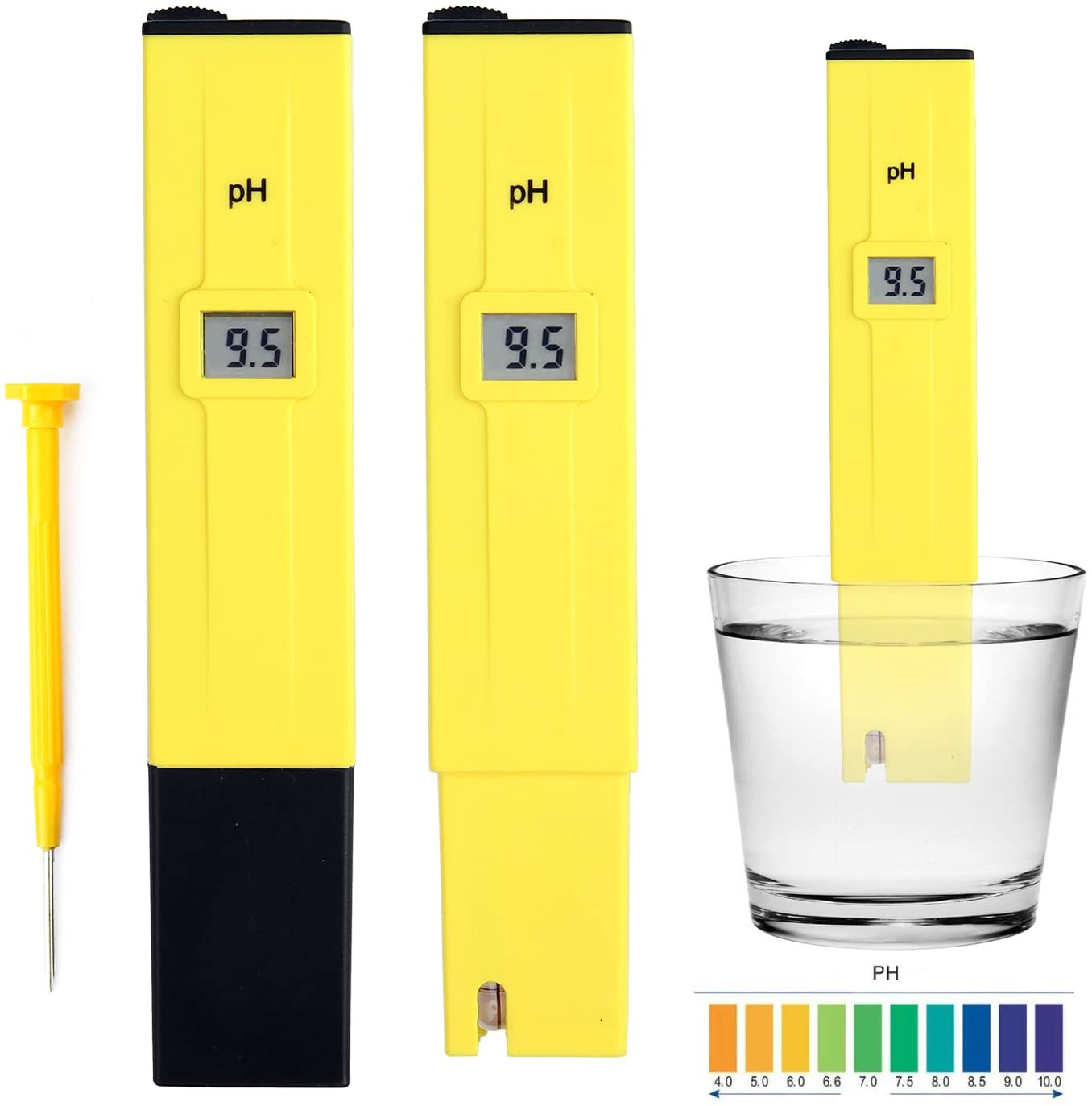 Digital PH Meter High Accuracy Water Quality Calibration Buffer Powder with 0-14 PH Measurement Range for Household Drinking Hydroponics Pool and Aquarium Water PH Tester Design with ATC (Blue)