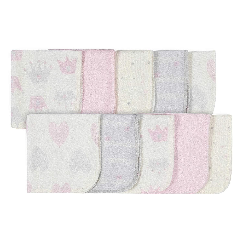 Gerber 10-Pack Washcloths, Pink/Ivory, One Size