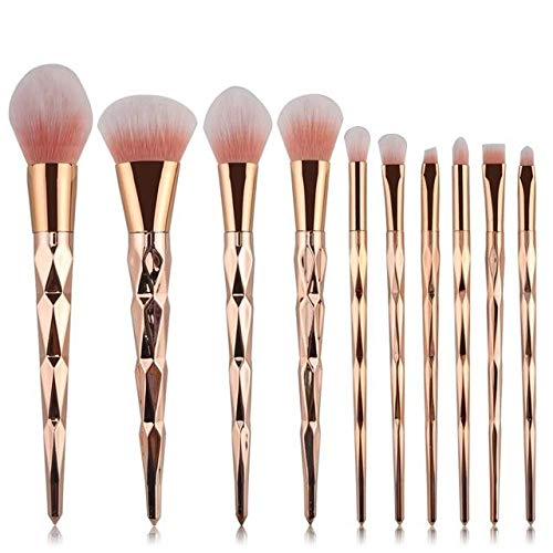 Pro Colorful Soft Makeup Brushes Set Foundation Powder Blush Eye Shadow Coutour Blending Make Up Brush Beauty Cosmetic Tool Kit KH128 (C)