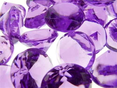 Acrylic Diamond Gemstone Table Scatter 3/4-Inch, 50 Pcs (Purple)