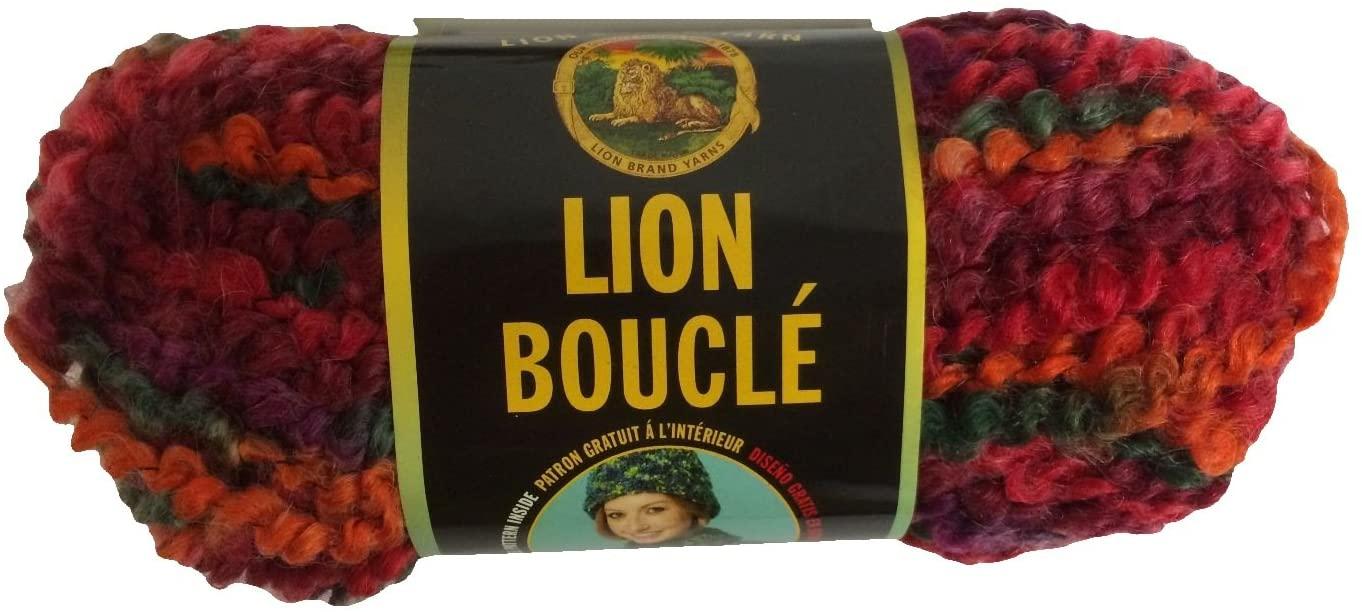 Lion Brand Boucle Yarn - Popsicle