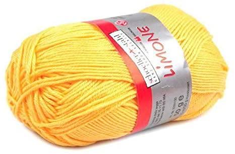 Cotton 50g Yellow Yarn, Crochet Yarn, Craft Supply, Cotton Thread, Cotton Knitting, Cotton Crochet, Cotton Cord, Wool, Textile Silk