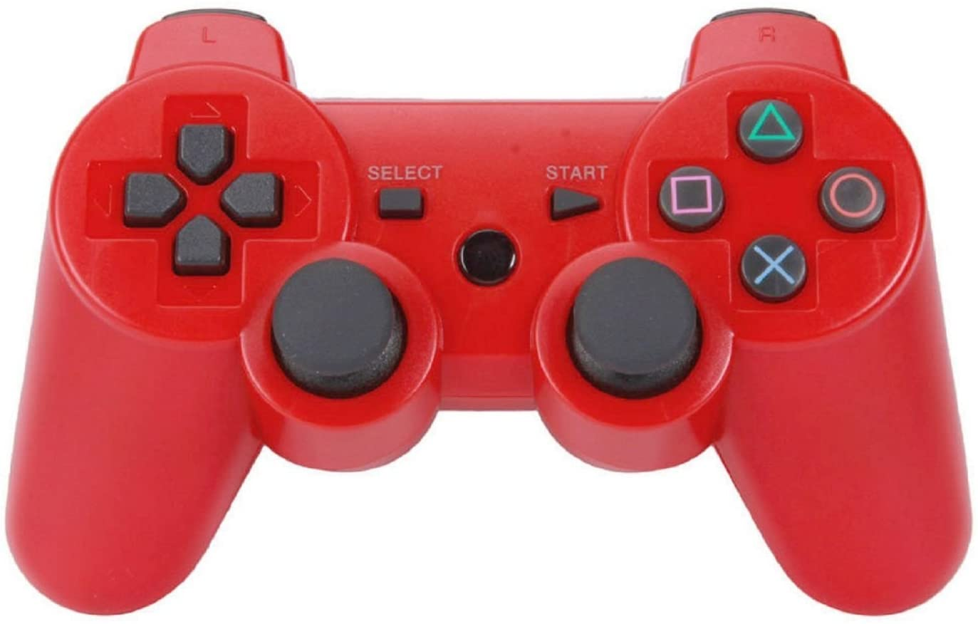 CRS Hot Dragonpadaccessory-experts Rumble Wireless Bluetooth Controller Gamepads Remotes for the Sony Playstation 3 in Red