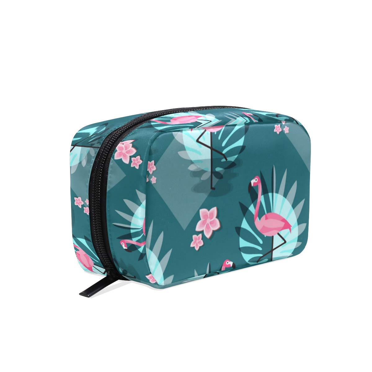 ILEEY Flamingo Flamenco Summer Pattern Cosmetic Pouch Clutch Makeup Bag Travel Organizer Case Toiletry Pouch for Women