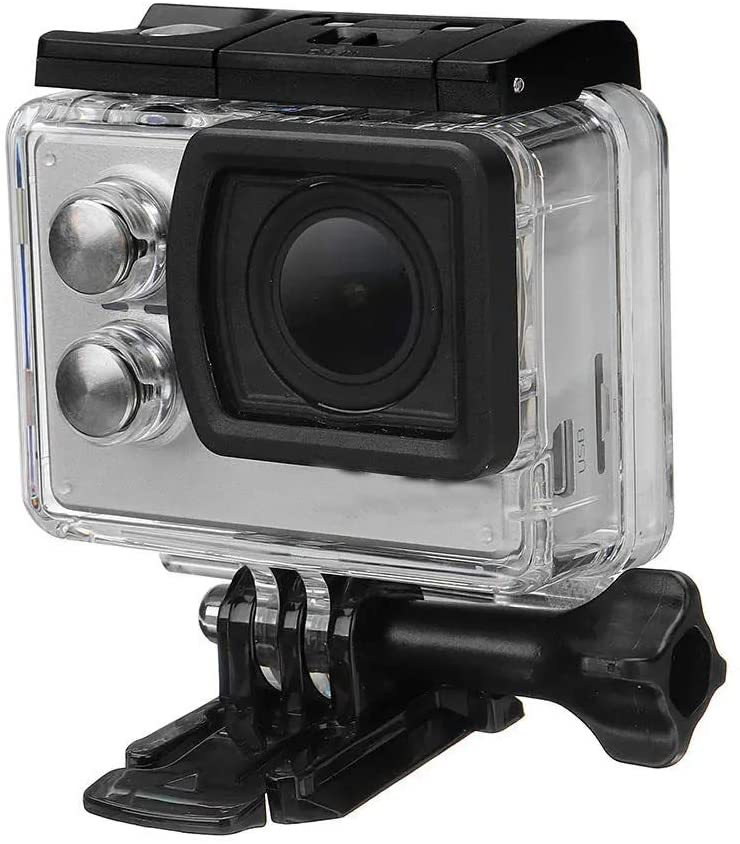 Sport Action Camera Durable WiFi Action Camera IMX117 CMOS 2.0 Inch LCD Sport DV Ambarella Multiple Accessories Kits (Color : Gray, Size : One Size)