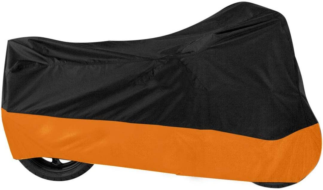 dalianda Black & Orange Motorcycle Motor Bike Scooter UV Dust Protector Cover New L