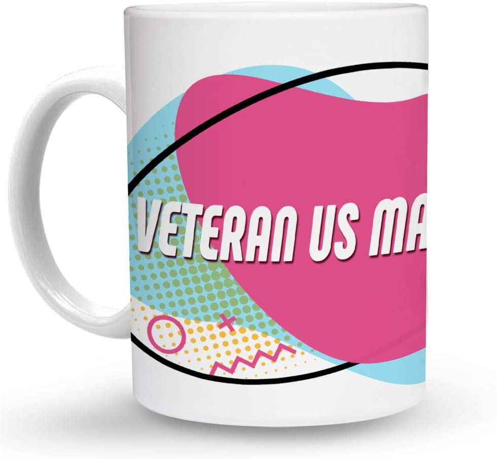Makoroni - VETERAN US MARINE 6 oz Ceramic Espresso Shot Mug/Cup Design#40