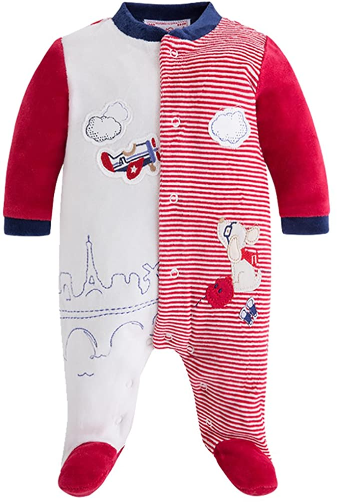 Mayoral Red Veour Co-Pilot Footie