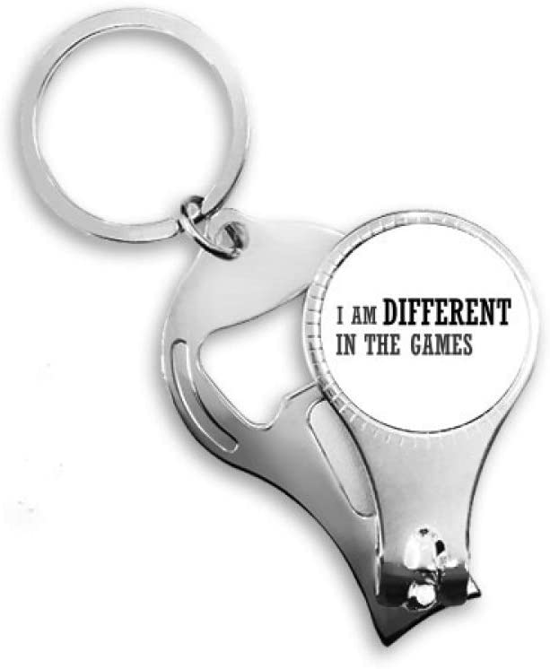 I Am Different in The Games Nail Nipper Ring Key Chain Bottle Opener Clipper