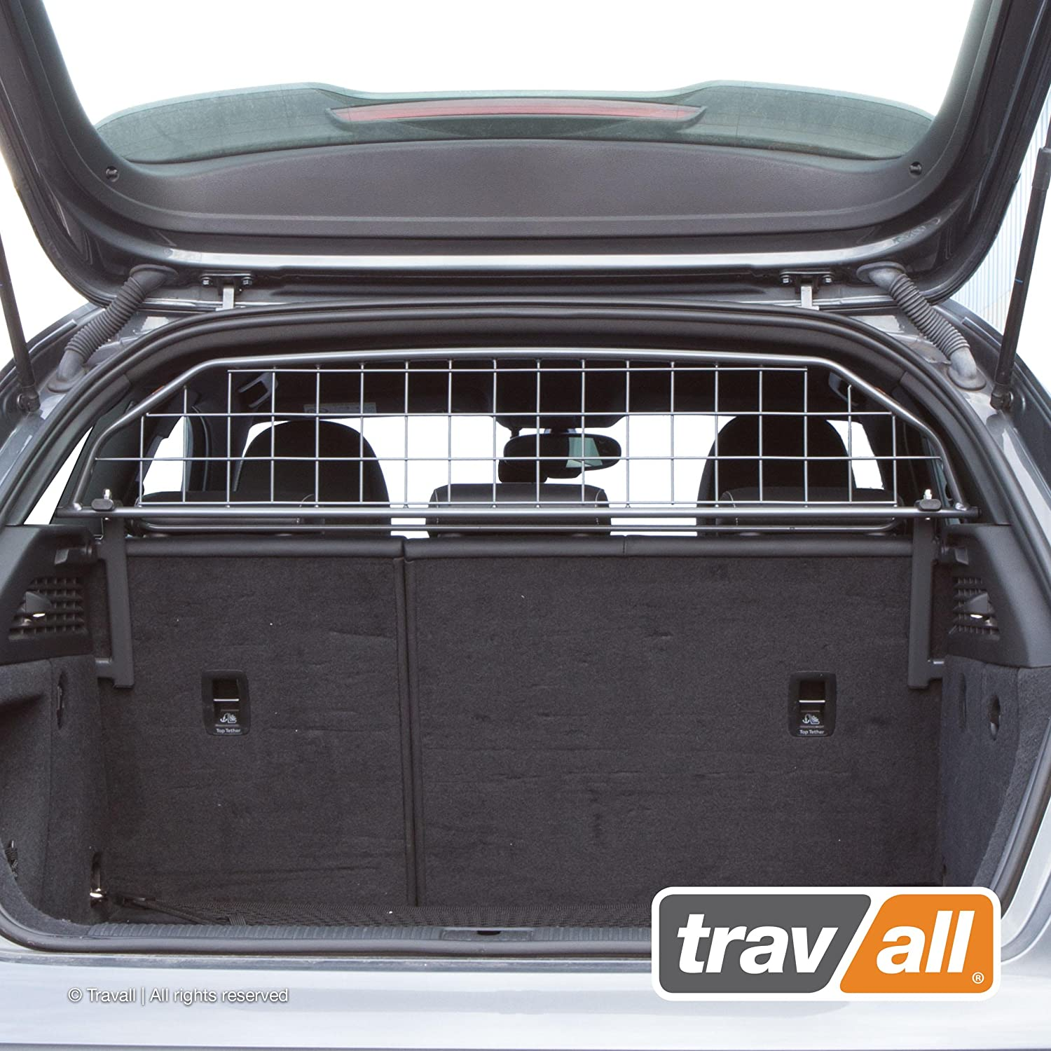 Travall Guard Compatible with Audi A3 Sportback and 3 Door (2012-2020) and Selected S3 and RS3 Models TDG1393 - Rattle-Free Steel Pet Barrier