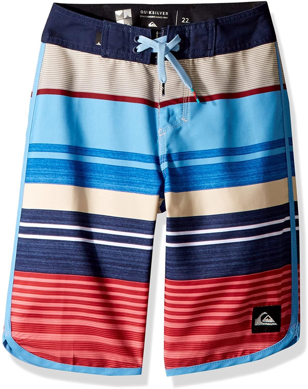 Quiksilver Boys' Big Eye Scallop Youth 19 Boardshort Swim Trunk